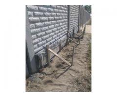 Заливка фундамента под забор.