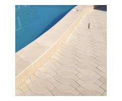 Террасная плитка Coping Рыбка бежевая и белая