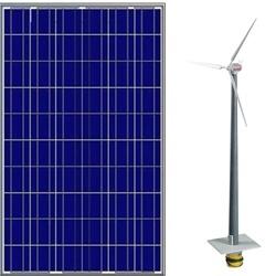 ветровые станции и солнечные панели