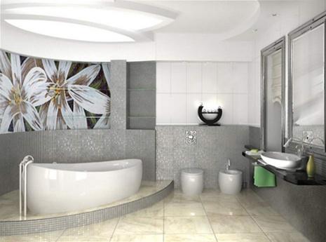 , Ванная комната в оригинальном стиле