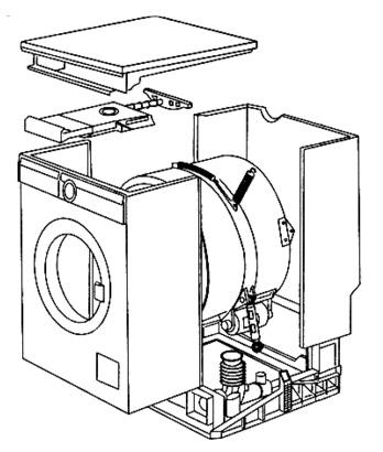 Стиральная машина в разобранном виде