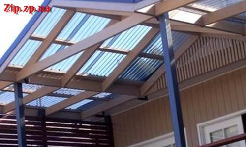 Крыша с поликарбоната
