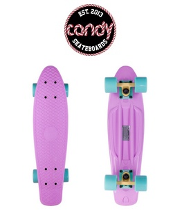 Розовый скейт